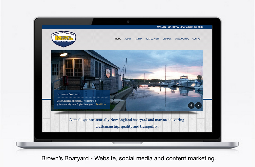Brown's Boatyard Launches New Site