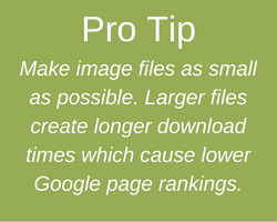 Pro Tip - Keep Image File Size down
